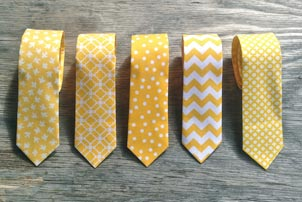 Yellow Groomsmen Ties