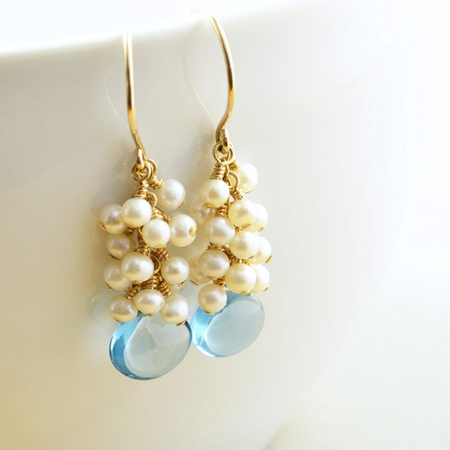 Something Blue Wedding Earrings