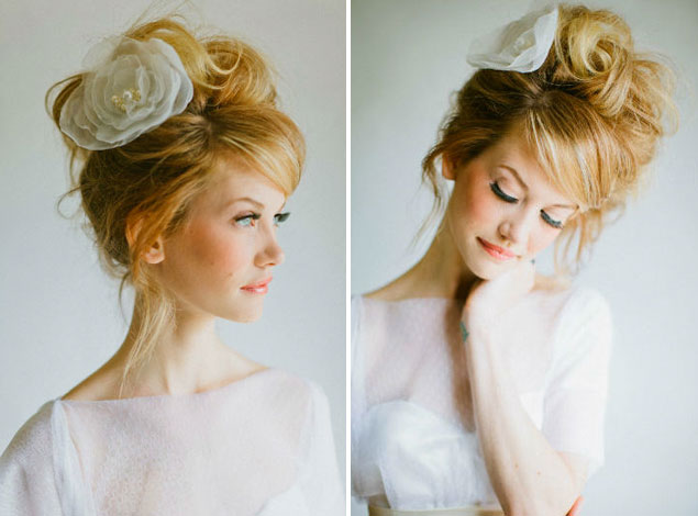 Wedding Hair Inspiration Intentionally Messy Bridal Hair