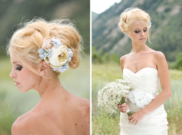 Messy Bridal Hair