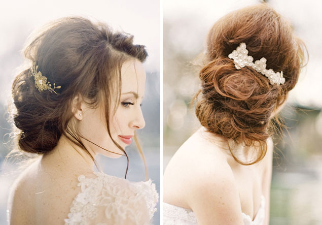Brilliant Wedding Hair Inspiration Intentionally Messy Bridal Hair Short Hairstyles Gunalazisus