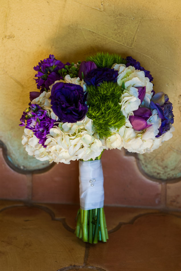 Green Purple and White Bouquet