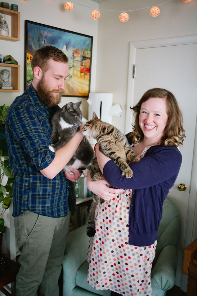 Engagement Shoot with Cats