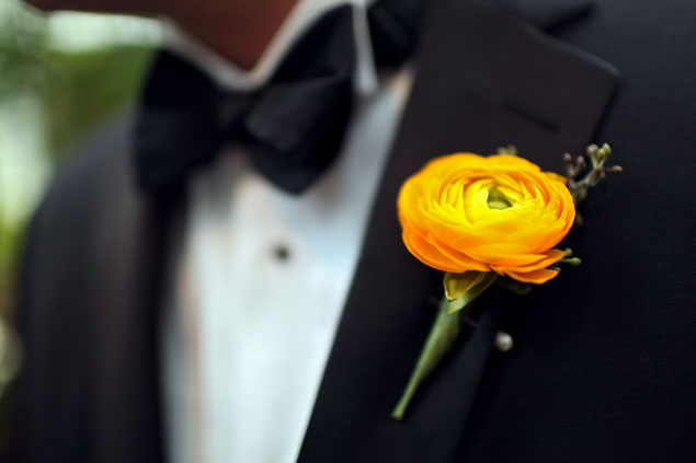 Bright Orange Boutonniere