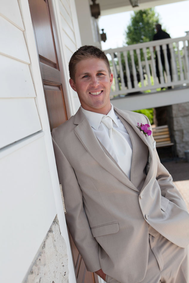 Groom in Tan