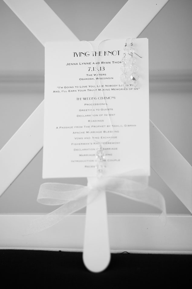 White Wedding Programs