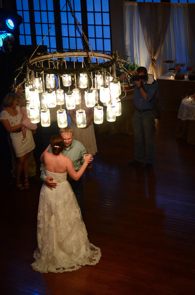 Mason Jar Wedding Lighting