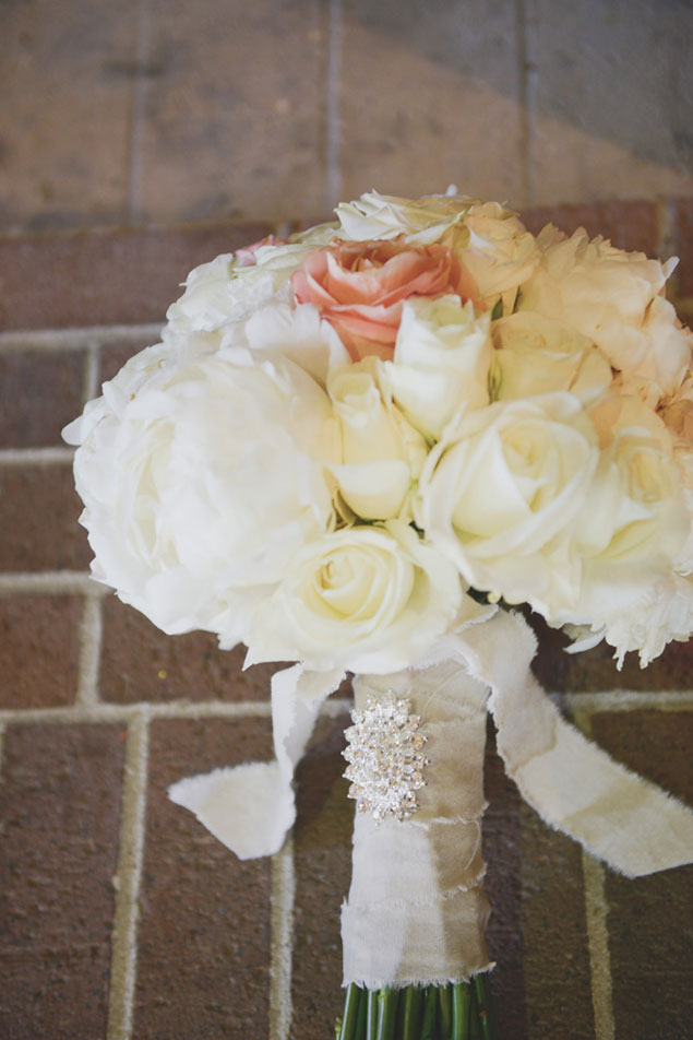 Ivory and Peach Bouquet