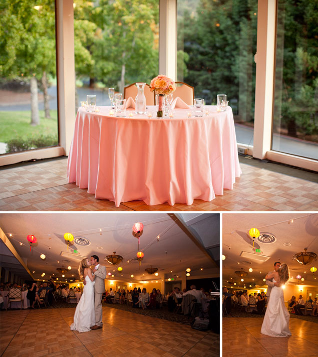 Peach Wedding Table Decor