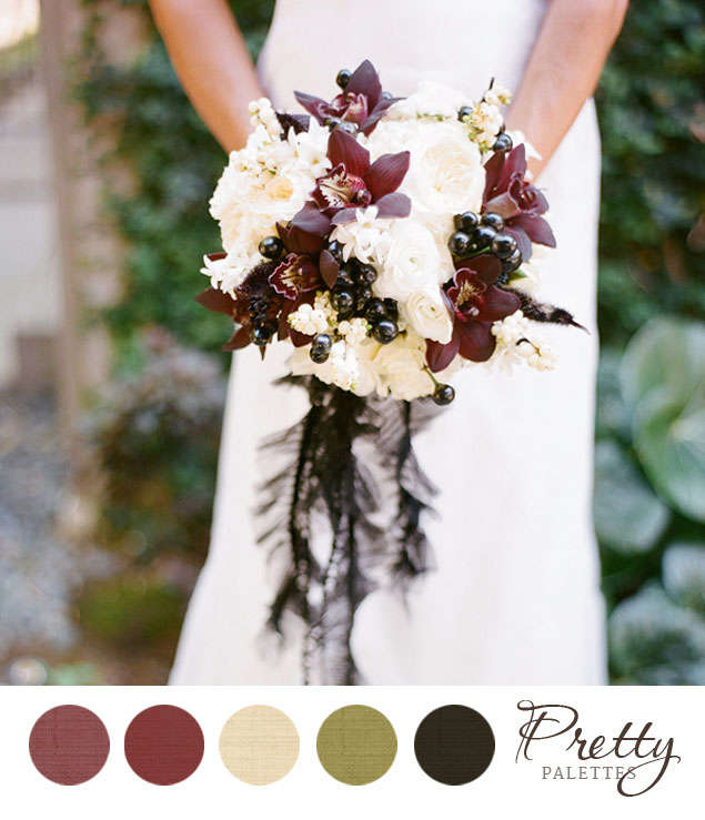 Winter wedding colors pretty palettes 65 for Winter wedding color palettes