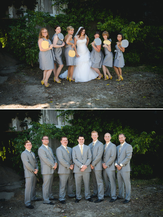 Gray and Yellow Wedding Party
