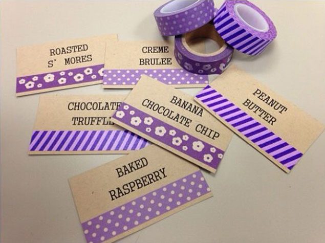 Washi Tape Wedding Labels