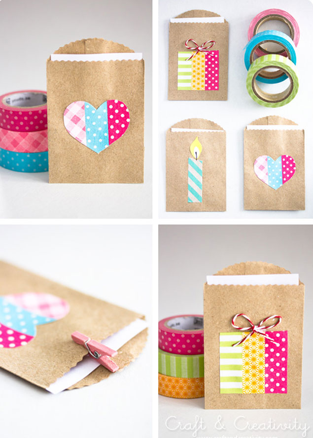 Washi Tape Favor Bags