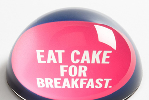 Eat Cake Paperweight