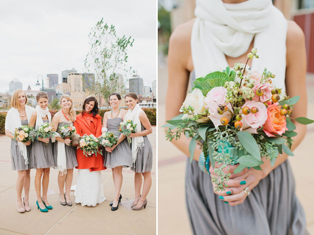 inspired style bridesmaid scarves