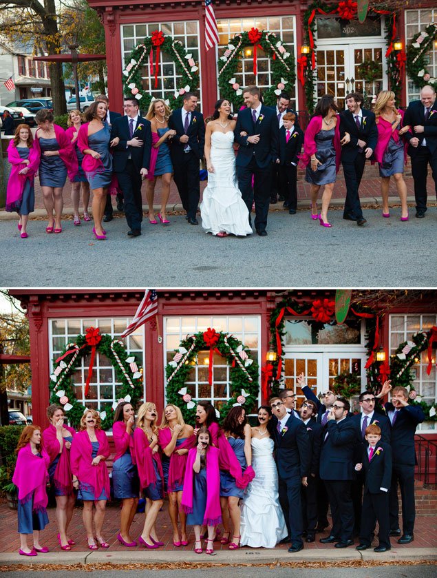 Hot Pink Bridesmaid Scarves