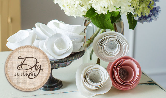 Easy diy paper flowers tutorial easy paper flowers tutorial mightylinksfo