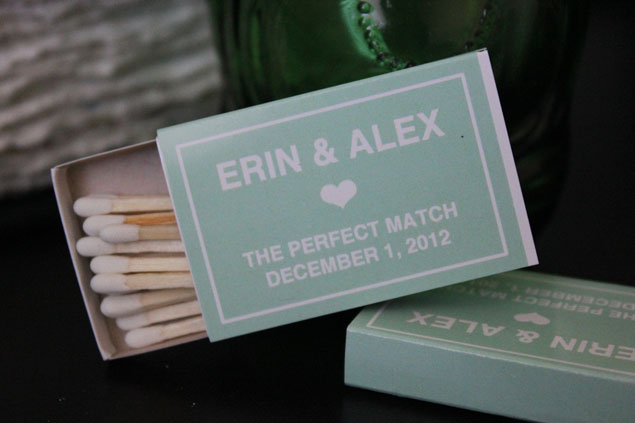Custom Matchbook Wedding Favors
