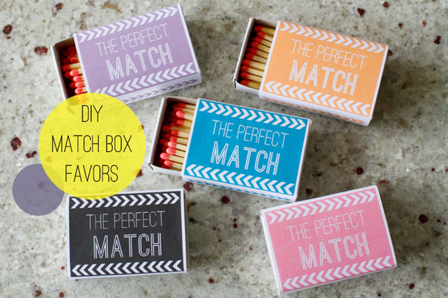 DIY Matchbox Wedding Favors