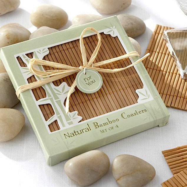 Bamboo Coaster Wedding Favors