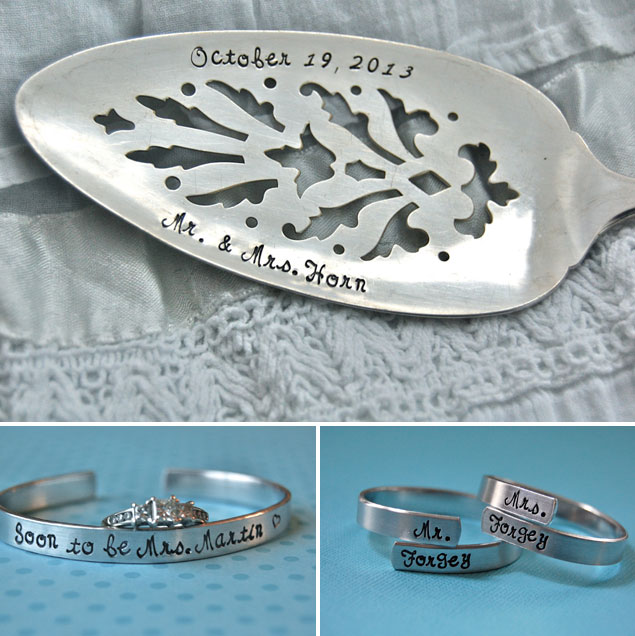 Hand Stamped Wedding Gifts