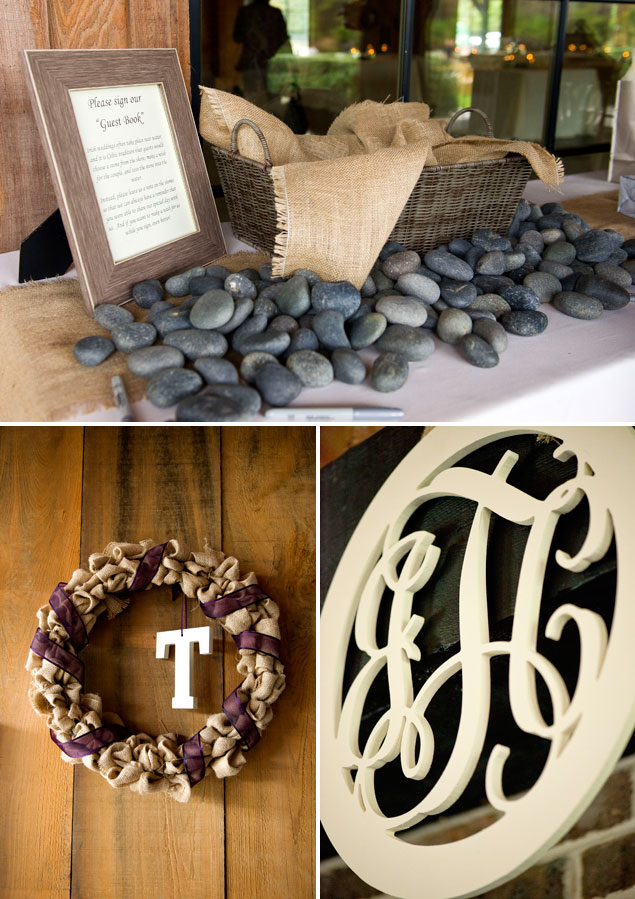 Monogram Wedding Details