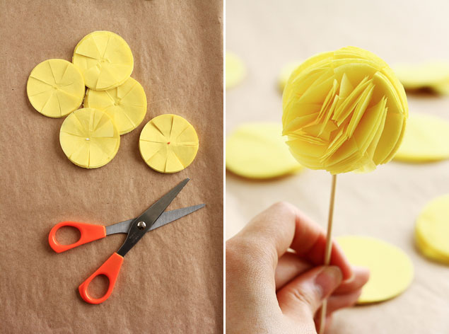 DIY Tissue Cupcake Toppers
