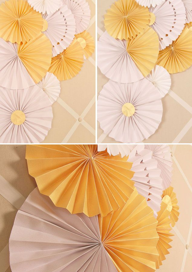 DIY Paper Wedding Fans