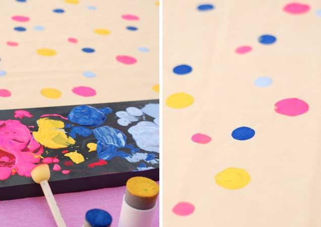 DIY Polka Dot Table Runner