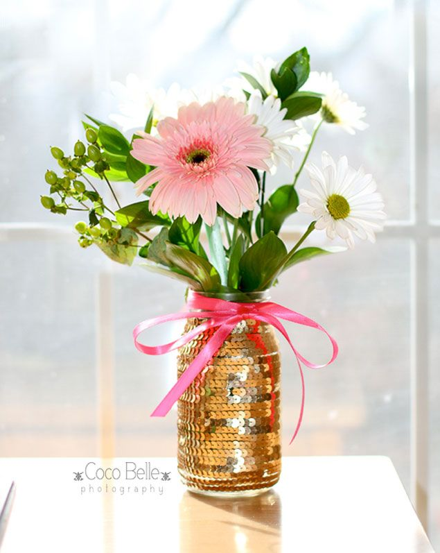 DIY Sequin Vase