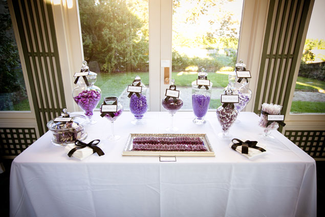 Purple Wedding Candy Bar