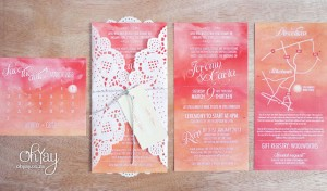 Ombre Invitations
