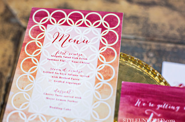 Pink and Orange Ombre Wedding