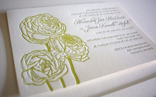 Floral Wedding Letterpress