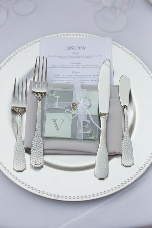 Silve Wedding Place Setting