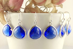 Blue Bridesmaid Earrings