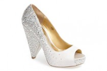 Crystal Bridal Pumps