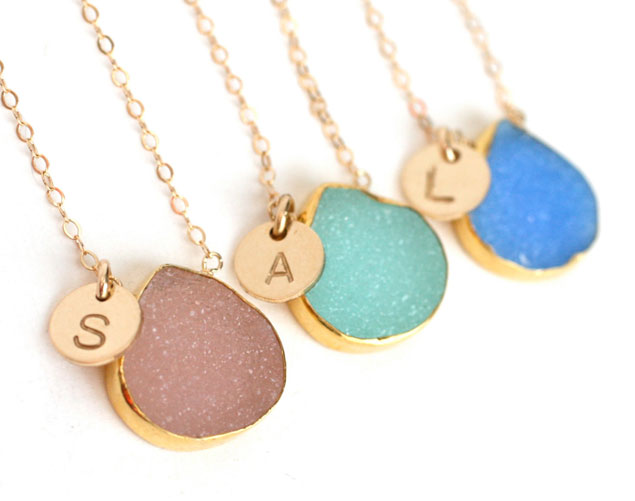 Druzy Bridesmaid Necklaces