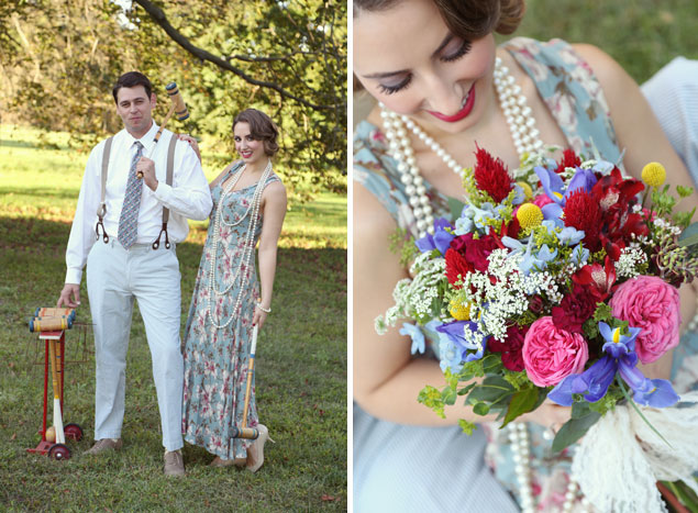 Vintage Style Engagement Photos