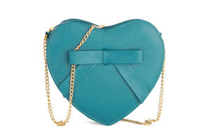 Teal Heart Bag