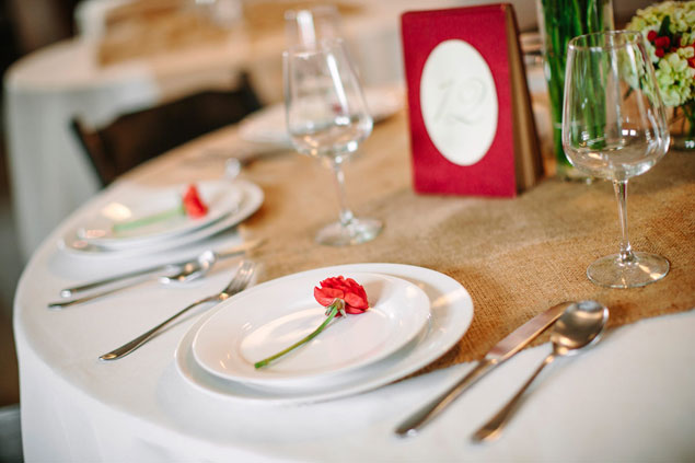 Single Flower Place Setting