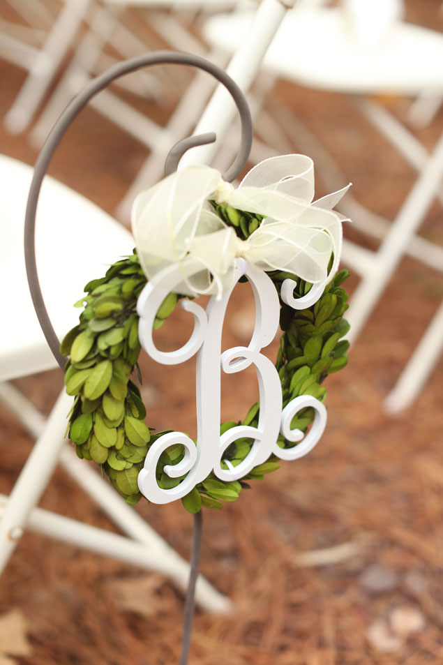 Monogram Aisle Decor
