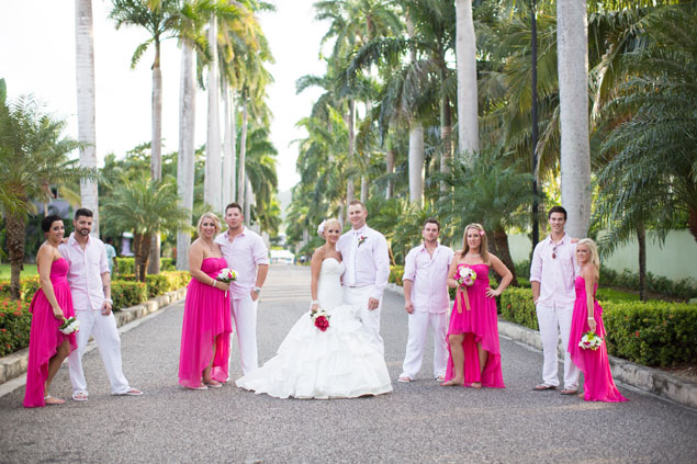 Pink & White Wedding Party