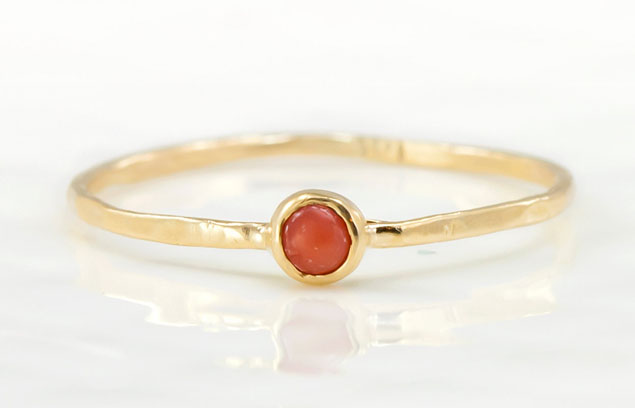 Tiny Coral Ring