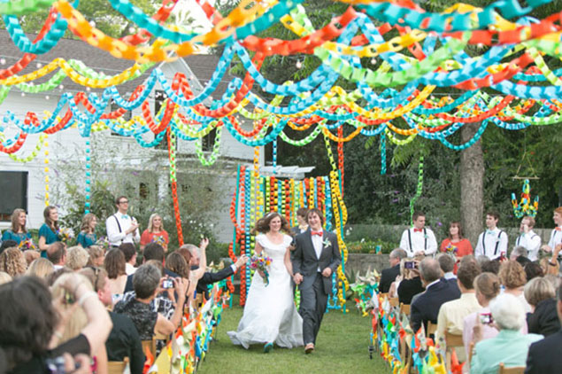 Paper Chain Wedding Backdrop