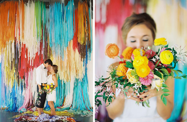 Colorful Wedding Backdrop