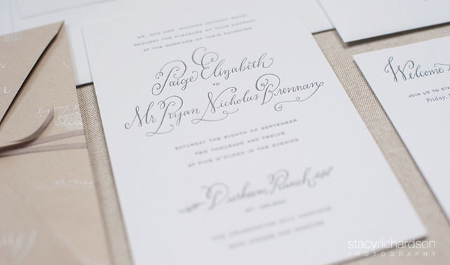 Wedding Invitation Wording: Dates, Times & Locations