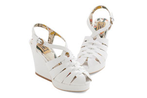 White Summer Wedges