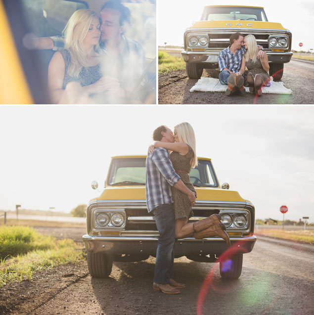 Vintage Truck Engagement Shoot