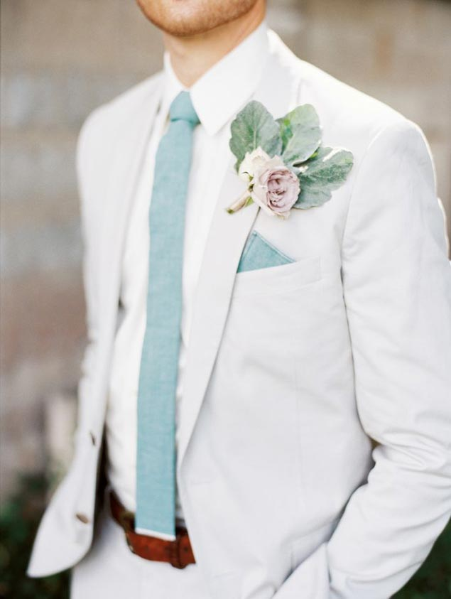 Leafy Boutonnieres